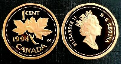Canada 1994 Proof Gem UNC One Cent Penny!!