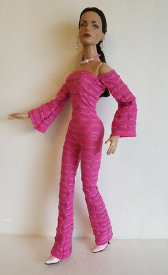 TYLER DOLL CLOTHES Mod Pink JUMPSUIT & JEWELRY SET Handmade Fashion NO DOLL d4e