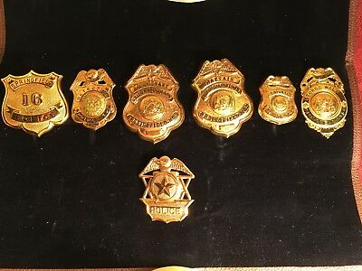 7 Vintage Police  Badges obsolete Collection from Springfield Missouri