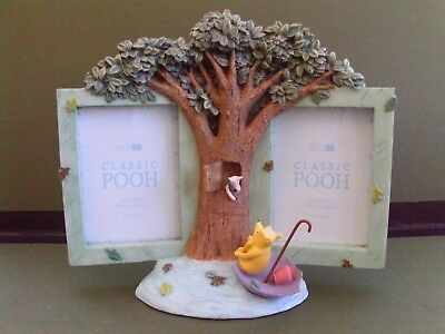 Pepper Pot Classic Pooh Double Photo/Picture Frame - Rainy Day