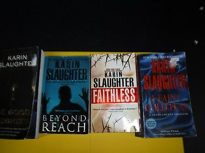 Lot Of 4 Mystery Novels By Karin Slaughter