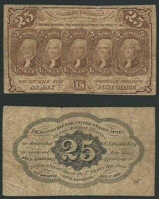 US Fractional      25 Cents        1st Issue        Fine