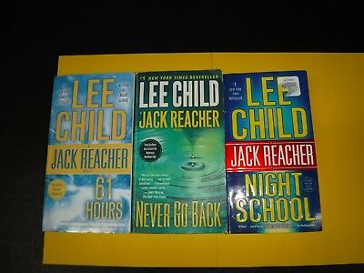 Lot Of 3 Mystery Novels By Lee Child