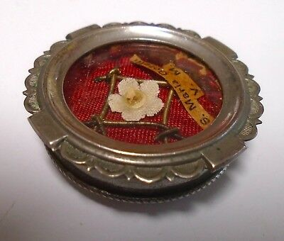 Antique St Maria Goretti VM First Class Relic Intact Thread & Wax Seal Reliquary