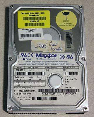 """Maxtor 83249-D3 - 3.2GB IDE 3.5"""" Hard Drive Used Tested"""