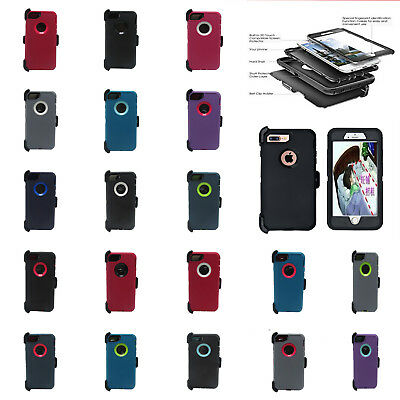 For iPhone 8 & iPhone 8 Plus Case Cover Fits OtterBox Defender Series Belt clip