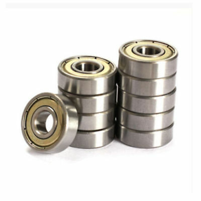 608zz Deep Groove Ball Bearing Carbon Steel For Skateboard Roller Blade 10pcs
