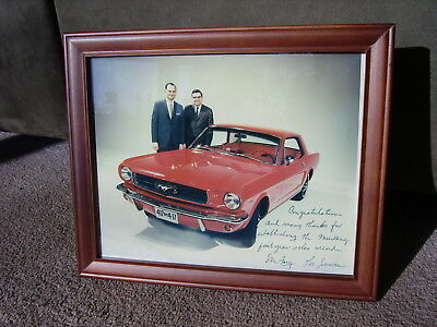 rare 1965 Ford Mustang DON FREY & LEE IACOCCA 417 by 4-17 Dealership Promo Photo