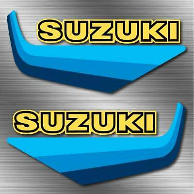 83' 82' RM, RM250, 465 suzuki  4pc Gas Tank sticker graphic Decal Set Vintage RM