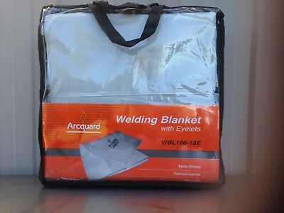 Arcguard Welding Blanket 1.8m x 1.8m Leather Heavy Duty Blanket WITH eyelets