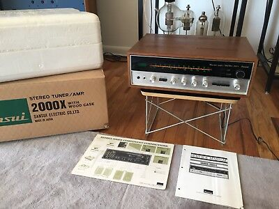 SANSUI 2000X SOLID STATE AM/FM STEREO RECEIVER Clean!! W/box And Manual! Works!