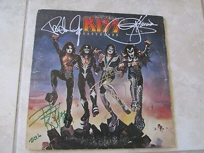 Kiss Signed 4X Cover & Insert Only 1976 Simmons Stanley  Frehley  Criss  Rare