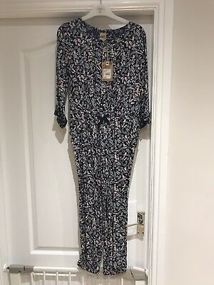 Mantaray Girls Navy Floral Jumpsuit. Age 10. Brand New