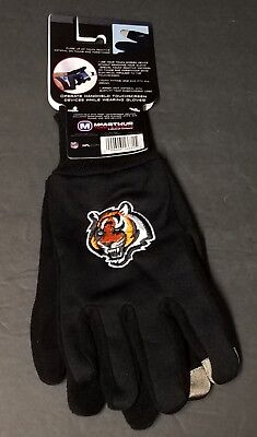 Cincinnati Bengals Texting Technology Gloves Adult NFL Embroidered One Size NEW