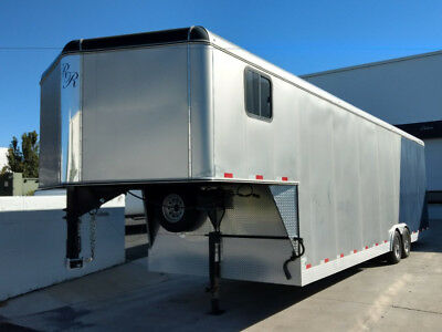 2013 Double R Trailers Enclosed Trailer Gooseneck Grey / Blue Double R Trailers Enclosed Trailer with 2,500 Miles available now!