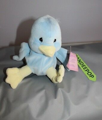 Enesco Tender Tails Blue Duck Stuffed Animal 382531 With Tag