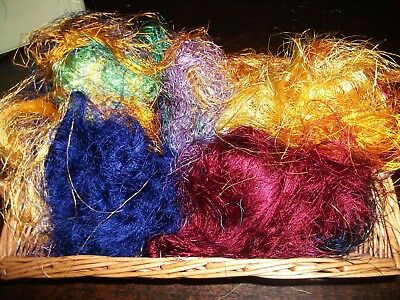 "50 gm   bag   Silk Fibre ""Carnival""  for Spinning, Felt, Paper making etc"