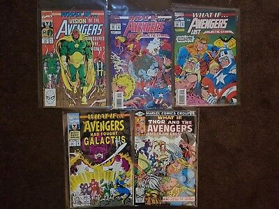 What If... 25 Thor, 19 Vision, 41 Galactus , 55-56 Galactic Storm. Lot of 5