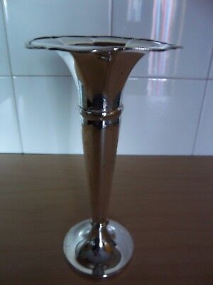 Silver Plated Single Flute Vase