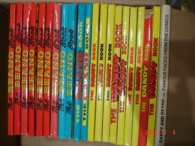 21 Annuals, 9 Dandy,11 Beano Books + Dandy/Beano special, all from1980/1990's.
