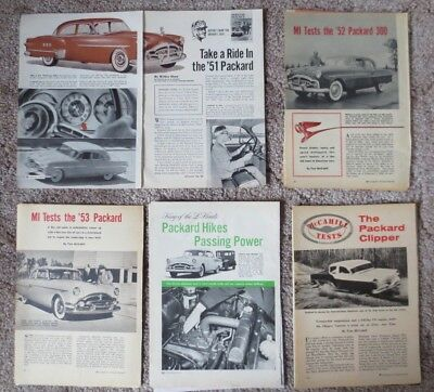 Vintage 1951, 52, 53, 54 and 55 Packard Auto Magazine Article Reviews (7)