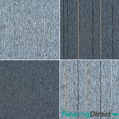 Grey Striped Carpet Tiles Heavy Duty Commercial Loop Pile Floor Tile Stripe