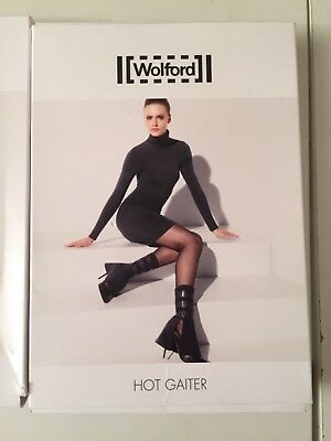 Wolford Hot Gaiter, Military Style, Black, Fetish Ankle Accessory, One Size, Nw/