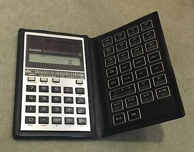 Vintage Casio fx-450 Solar-Powered Scientific Calculator 1980s Working