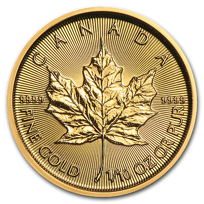 2019 Canada 1/10 oz Gold Maple Leaf BU - SKU#171455