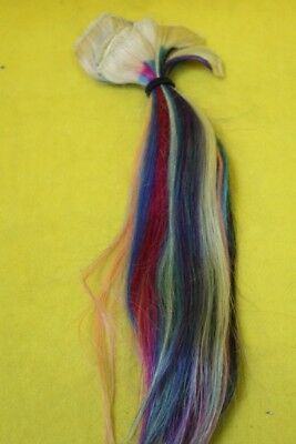 Real Human Hair multi coloured extentions 17''wel03ep