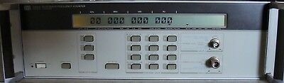 HP AGILENT 5350A 20 GHz MICROWAVE FREQUENCY COUNTER W/ MANUAL!  CALIBRATED !