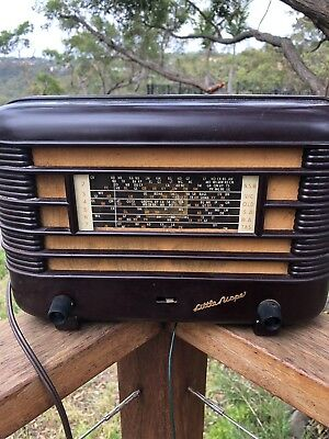 Vintage Australian Tube Radio Little Nipper Bakelite Radio Working