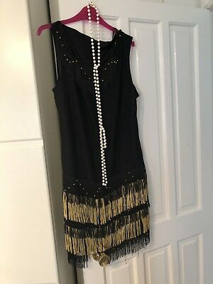 Ladies Flapper Dress With Beads