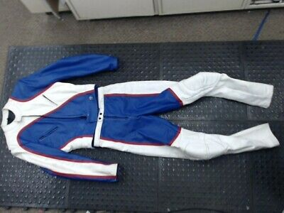 Rare Vintage Leather Suit Motorcycle Racing Taurus by DROSPO