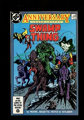 SWAMP THING 50 (9.4) 1ST FULL JUSTICE LEAGUE DARK ALAN MOORE DC (b059)