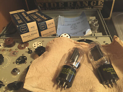 Western Electric 101FA Audio Triode, matched pair NOS, mint tubes #1