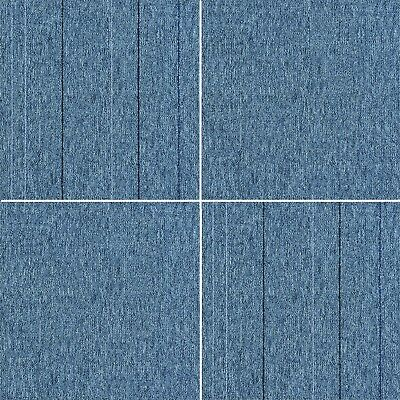 Blue Striped Carpet Tiles Heavy Duty Contract Commercial Stripe Shop Office