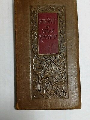 Antique Book Rubaiyst Omar Khayyam Leather Booklet Early 1900s EXCELLENT COND
