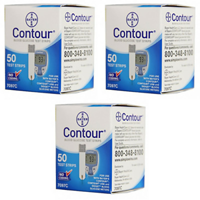 Contour Test Strips - 150 Count (3 Boxes of 50)  exp  05/31/2020