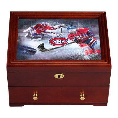 Montreal Canadiens Custom-Crafted Wooden Keepsake Box by The Bradford Exchange
