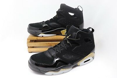 Nike Air Jordan Flight Club  91 Basketball Shoes Black Gold 555475-031 Men s  10 128d8733e