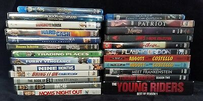 LOT of 24 DVDs and Blu-ray Discs