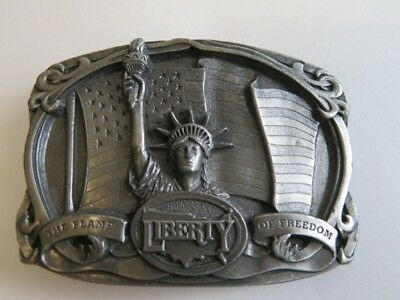 Vintage 1985 Bergamot Brass Works Liberty The Flame of Freedom Belt Buckle 3D