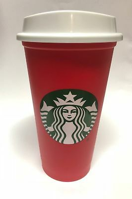 Starbucks Limited Edition Red Holiday 2018 Reusable plastic cup tumbler 16oz.