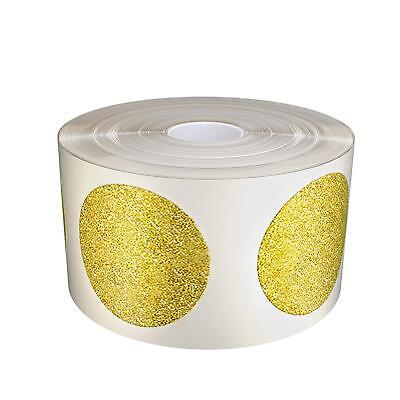 """Gold Glitter Sparkly Circle Stickers 25mm Round 1"""" Inch Label in Rolls 425 Pack"""