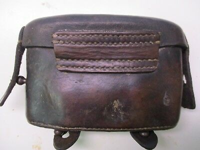 Imperial German WWI Model 71 Leather Ammunition Pouch, Nicely Marked