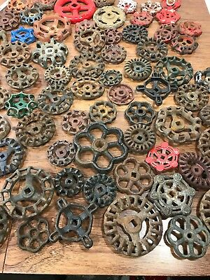 110 Vintage Industrial Machine Age Valve Handles Steampunk Art Antique Iron Zinc