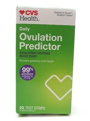 CVS Health Daily OVULATION PREDICTOR 20 TEST STRIPS Exp 12/18