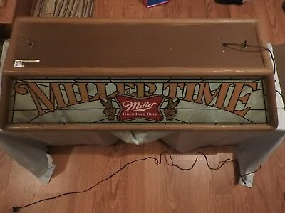 "Vintage Miller Time Ceiling Pool Table/bar ""girl On The Moon"" Light"