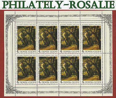Russia Soviet Union USSR 1986 stamps  block  (Russian Paintings) MNH